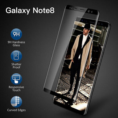 For Samsung Galaxy Note 8 Bubble Free Full Cover Tempered Glass Screen Saver