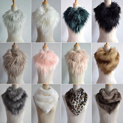 Women Faux Fur Scarf Shawl Collar Stole Cape Long Soft Scarves Winter Warm Wrap (Faux Fur Cape)