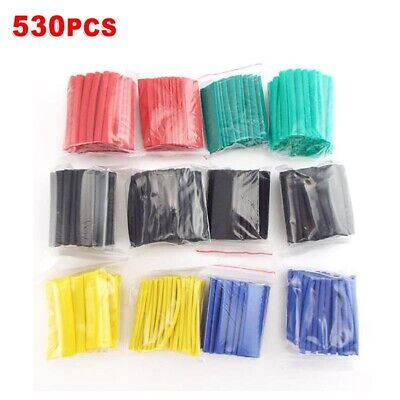 530pcsset Heat Shrink Tubing Insulation Tube Assortment Wire Cable Sleeve Kit