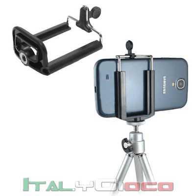Supporto Universale Clip Attacco Selfie Foto per Cellulari Smartphone Nero