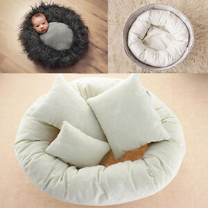 4pcs Newborn Infant Baby Boys Girls Soft Cotton Pillow Photography Photo Props