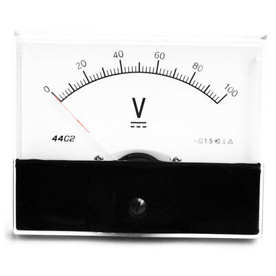 1pc Dc 100v Analog Panel Volt Voltage Meter Voltmeter Gauge 44c2