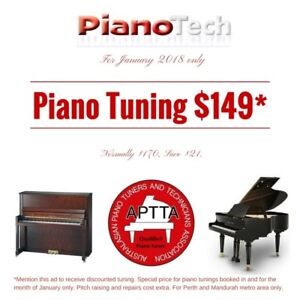 Piano Tuning SPECIAL January   APTTA Member   PianoTech.com.au Canning Vale Canning Area Preview