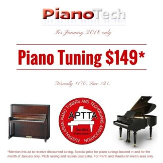 Piano Tuning SPECIAL January | APTTA Member | PianoTech.com.au Canning Vale Canning Area Preview