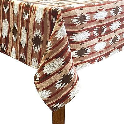 Tablecloth Southwestern 60 X 84 Rustic Tan Brown SUNSET RIDGE Oblong NEW - Rustic Table Cloth