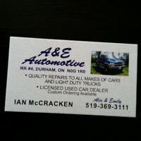 A&E Automotive is looking for an automotive technician