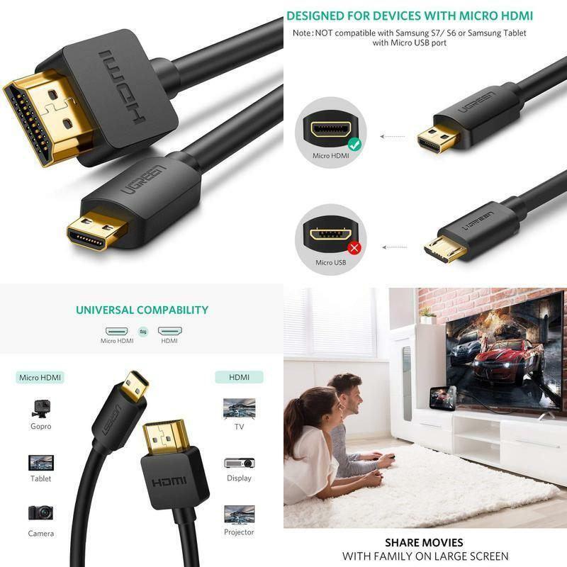 Ugreen Micro Hdmi To Hdmi Cable Adapter 4K 60Hz Ethernet Aud