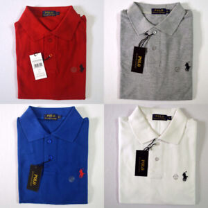 Ralph Lauren - Mens Polo T-Shirt with Embroidered Logo Wholesale