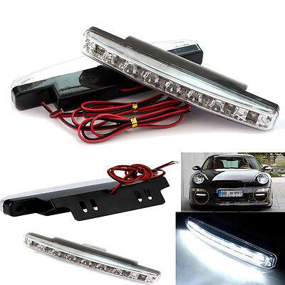 Car 8LED Daytime Driving Running Lights DRL Car Fog Waterproof Lamp Power Saving