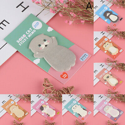 Cartoon Cat Sticky Memo Post Pad Marker It Note Planner Stickers Cute Station N