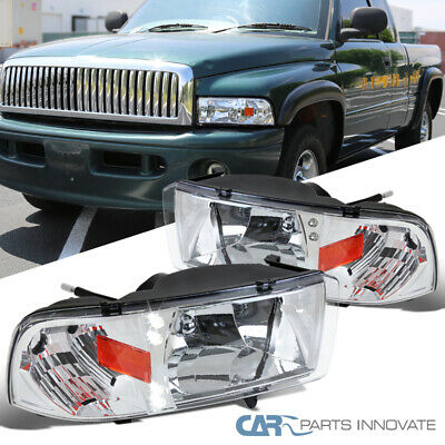 For 94-01 Dodge Ram 1500 2500 3500 Pickup LED Clear Headlights+Signal  Lamps