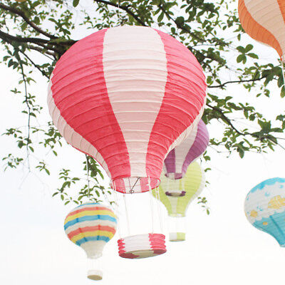 New 12'' Rainbow Paper Hot Air Balloon Lantern Lampshade Wedding Party Decor