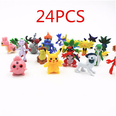 24pcs Wholesale Lots Cute Pokemon Mini Random Pearl Action Figures Kids Toys New