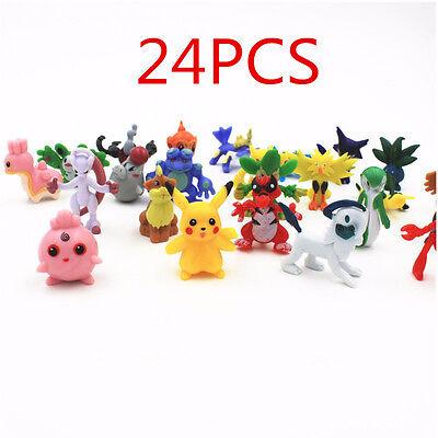 24pcs Wholesale Lots Cute Pokemon Mini Random Pearl Action Figures Kids Toys New - Wholesale Pokemon