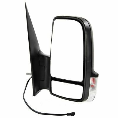 VW Crafter Van 2006-2016 Manual Short Arm Wing Door Mirror Black Drivers Side