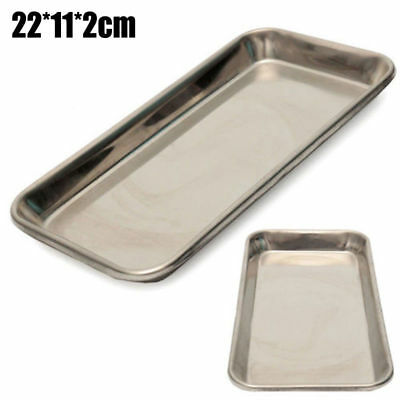Stainless Steel Medical Surgical Tray Dental Dish Lab Instrument 22112cm Ra O
