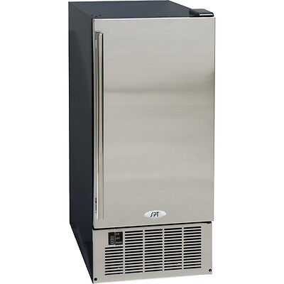 50 Lb. Undercounter Ice Maker Stainless Steel Built-in Clear Cube Ice Machine