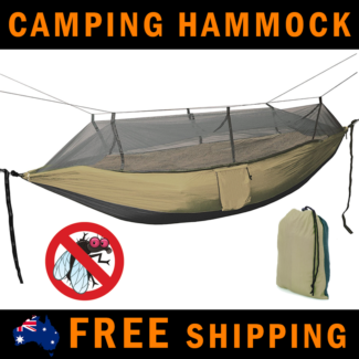 SUPER SALE - Ultralight Double Camping Hammock with Mosquito Net