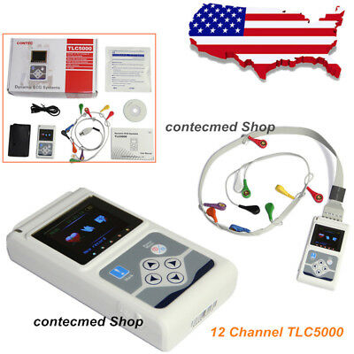 Tlc5000 Ecg Holter System12 Channel 24 Hours Recorder Analysis System Ce Fda Us