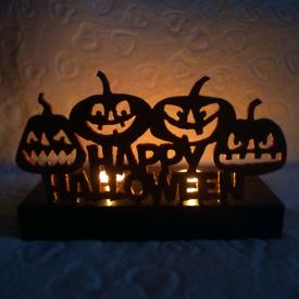 Decorative Halloween tea light holders