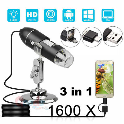 1000x1600x Usb Zoom Digital Microscope For Electronic Accessories Coin Inspect