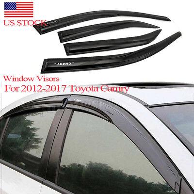 For 2012-2017 Toyota Camry Window Visor Rain Guard Shade Deflector Style Acrylic