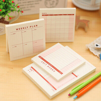 Memo Pad Paper To Do List Grid Sticky Notes Notepad Sticker School Office Supply Note Memo Pad Notepad