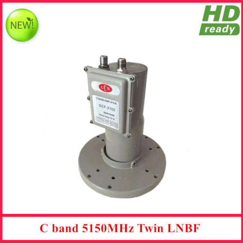 Low Noise Full HD Digital Ready C band Twin output LNB with L.O 5150MHz