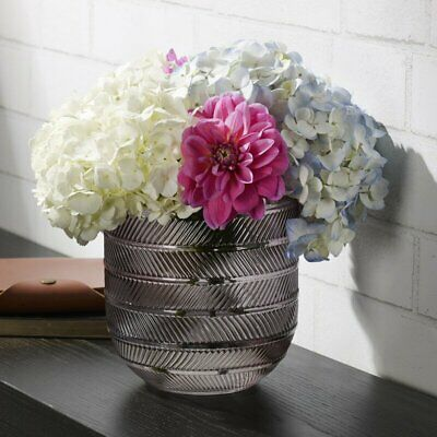 Gray 6.3'' Glass Table Vase FreeShip Us Stock