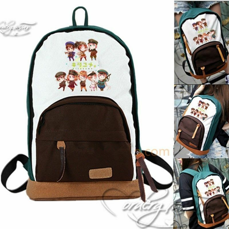 Canvas 2 Anime Characters : Anime aph axis powers hetalia characters canvas backpack