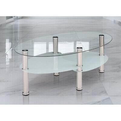 Mesa de Centro de Cristal con Revistero Modelo Sena ref-12
