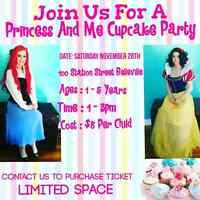Princess and me Cupcake Party