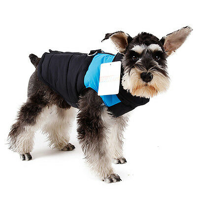 Pet Dog Vest Clothes Puppy Dogs Waterproof Jacket Coat Apparel Blue L
