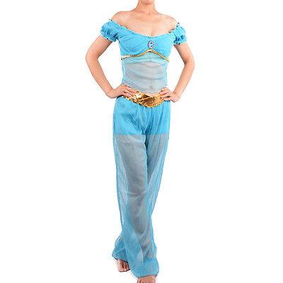 Adult Arabian Princess Costume (Arabian princess jasmine costume women adult Aladdin's cosplay Belly Dance)