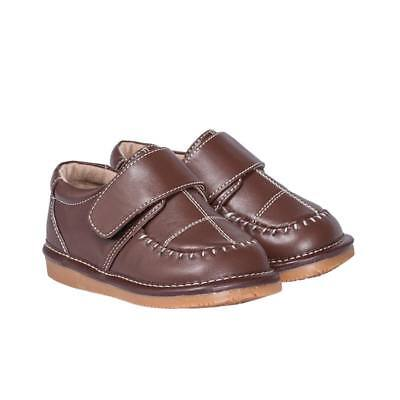 Boy's Leather Toddler Brown Dress Squeaky Shoes Sizes 1 to 7 w/Free - Boys Brown Leather Dress Shoes