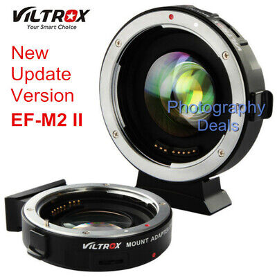 2 Reducer (Viltrox EF-M2 II AF Adapter Focal Reducer Booster For Canon EF Lens to M43 MFT)