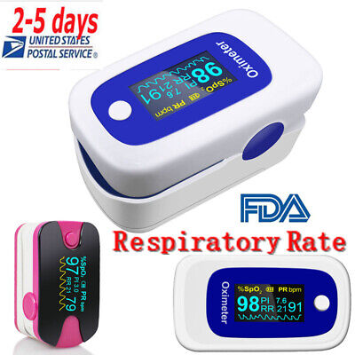 Oled Fingertip Pulse Oximeter Spo2 Pr Pi Respiration Rate Monitor Alarm Fda Ce