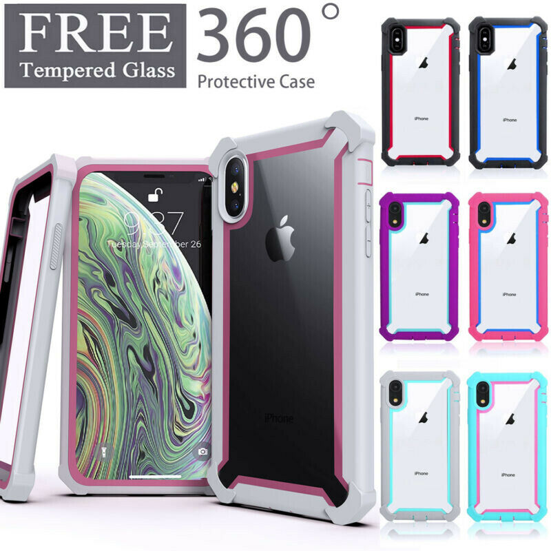 For iPhone XR XS MAX 6 7 8 Plus Clear Case Cover Shockproof