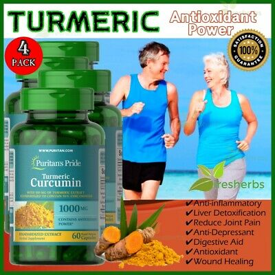 TURMERIC CURCUMIN 1000mg Obesity Cholesterol Depression Immu