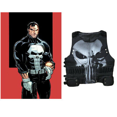 The Punisher 1 Costume Frank Castle Waistcoat Vest Cosplay Halloween Fancy Dress - Punisher Costume Vest