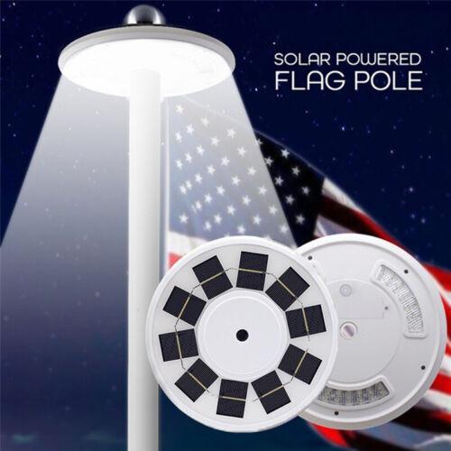 108LED Solar Powered Flag Pole Light Automatic Light Night S