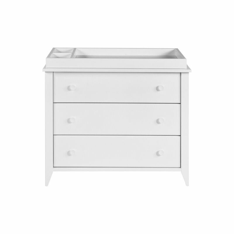 Babyletto Sprout 3 Drawer Dresser with Removable Changing Tray in White