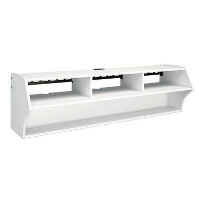 Audio Video Stands Mounts - Prepac White Altus Plus Wall Mounted Audio/Video Console WCAW-0208-1 TV Stand