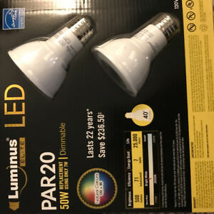 10x Dimmable PAR20 LED pot lights 7w Luminus Elite TEN BULBS