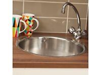 430 Calder Round Bowl Stainless Steel Kitchen Sink