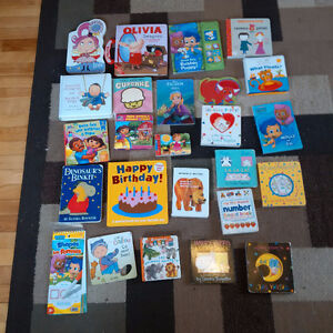 Collection of baby and toddler books