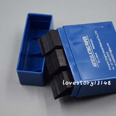 300 Pcs Box Dental Bausch Articulating Paper Double Sided Strips Soft Blue