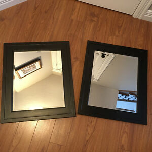 Set of Black Mirrors - 25.5 x 22.5 inches