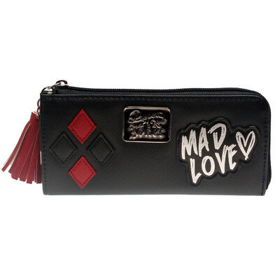 DC Comics Harley Quinn Mad Love Zip Around Wallet Clutch Purse Fashion Gift New
