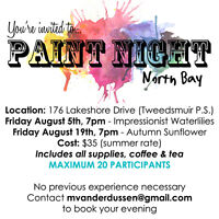 Paint Night North Bay